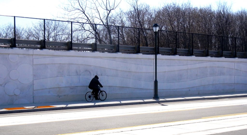 Conrail retaining wall on Richmond Street