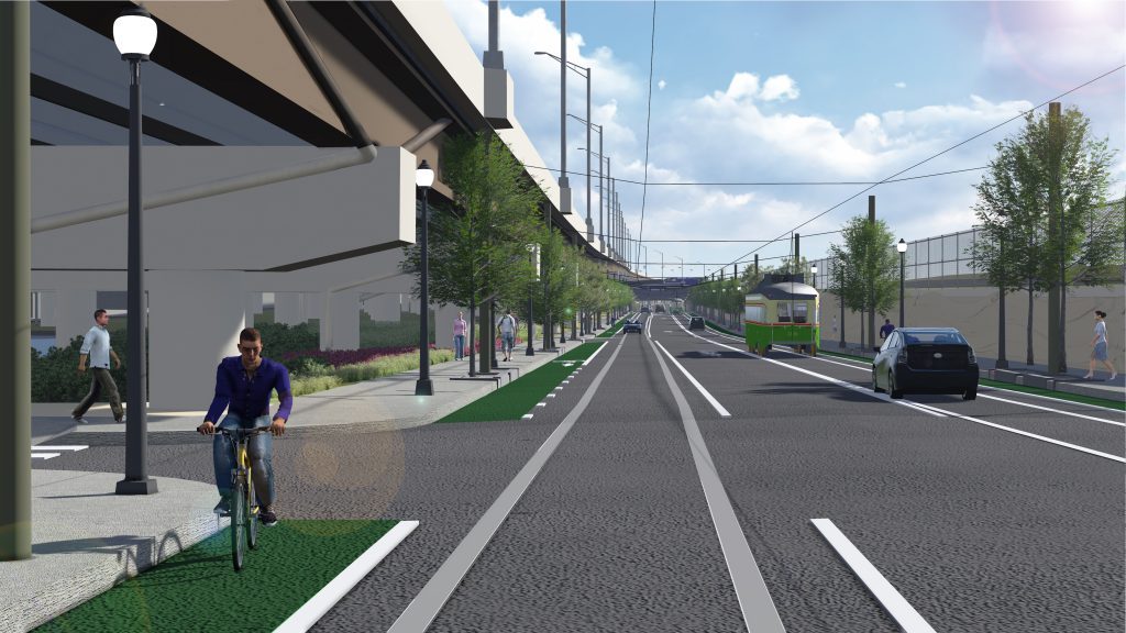 Rendering of Richmond St improvements